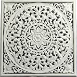 DRW Mandala Madera Calado Cuadrado (Blanco)