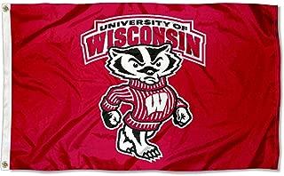 Wisconsin Badgers UW Bucky University Large College Flag