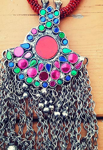 Boho jewelry,Nomadic Pendant,Hundmade Pendant,Gift For Her Kuchi Coin Pendant,Tribal Necklace,Statement Necklace