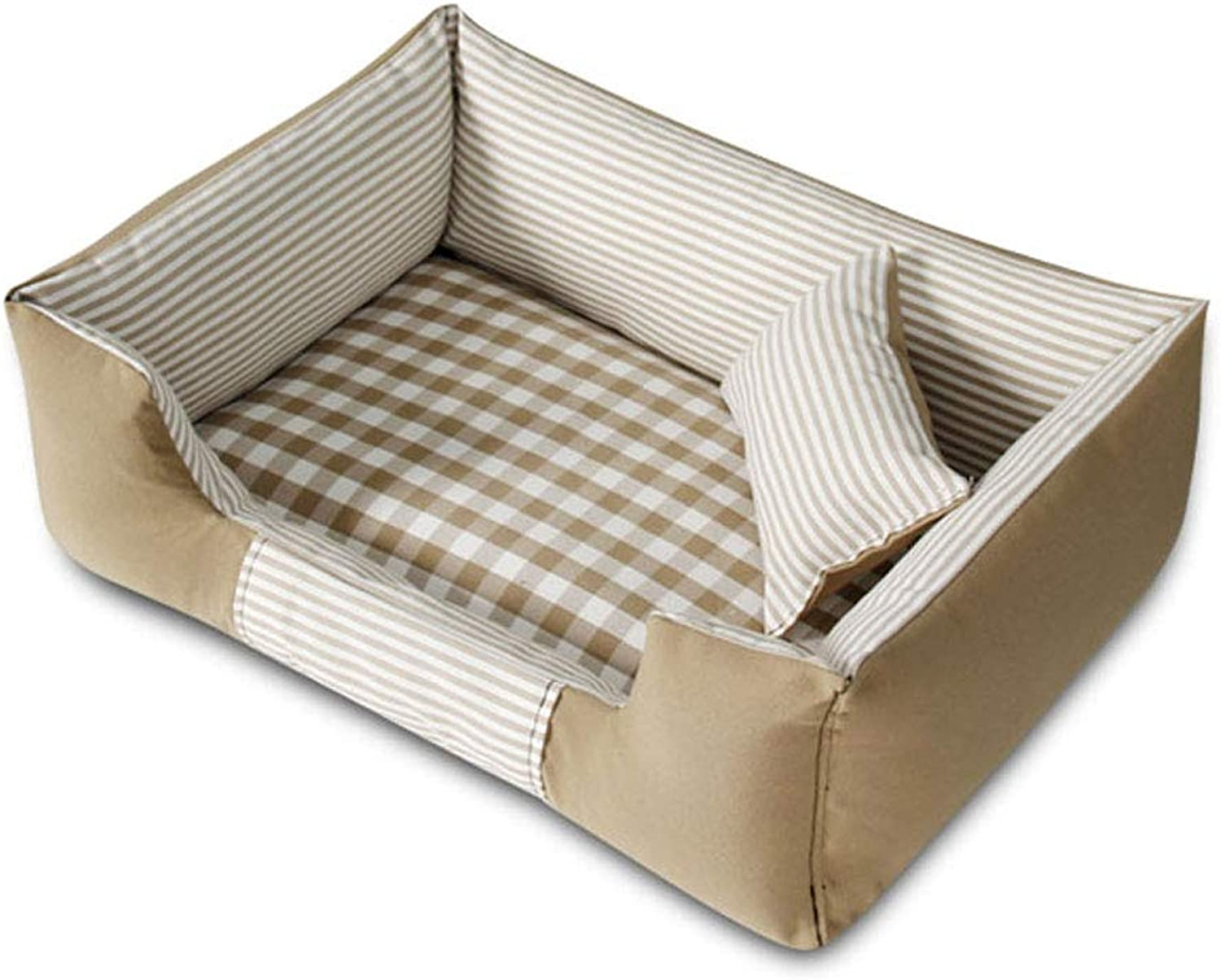 LZY pet bed Four Seasons Kennel Bite Small And Medium Pet Bed Home (color   Beige, Size   72x52cm)