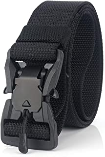 Sum-of-Best Magnet Buckle Quick-Release Nylon Canvas Breathable Military Tactical Men&Women Waist Belt With Plastic Buckle