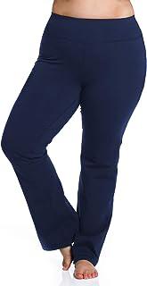 Rainbeau Curves Women's Plus Size Curve Basix Straight Leg, Navy, 26/28