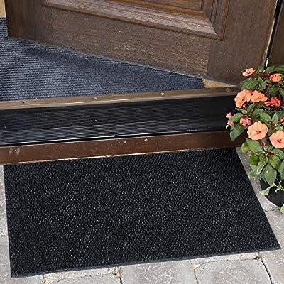 "Ottomanson Rubber Doormat, 18""X30"", Black"