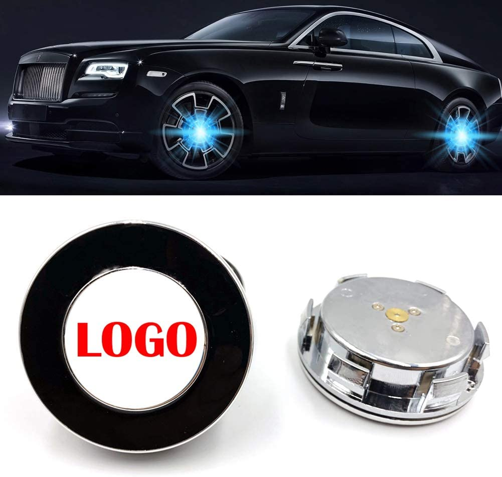 MSWRHC Car Wheel Rapid rise Lamp Max 51% OFF Suspension Compatible Logo Cover Led