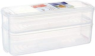 rismart Boîte De Rangement Réfrigérateur Set avec Couvercle, Empilable Bac Organisateur Frigo pour Stocker Poisson, Viande...