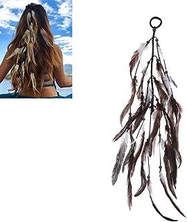 Bohemian Dream Catcher Feather Hippie Headband,Handmade Hippie Gypsy Tribal Indian Adjustable Headpiece Dream Catcher Headwear Headdress,Gray