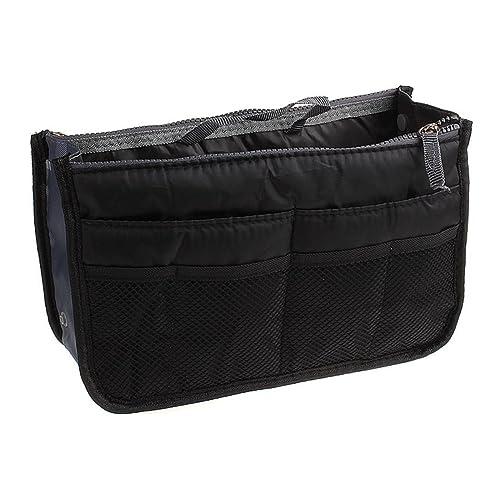 66ae12bae6 Mareine Handbag Organizer Insert Liner 9 Pockets With Handles | Purse  Insert Organizer Expandable Bag With