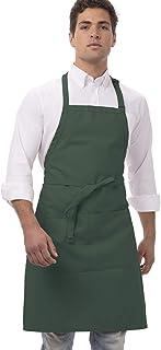 سرآشپز پیش بند قصابی یونیسکس کار می کند ، طول 34 اینچ سبز شکارچی با عرض 24 اینچ