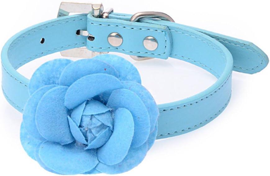 Benala wholesale Pu Free Shipping New Leather Cute Big Rose Adjustable Collar Pet Flower Dog