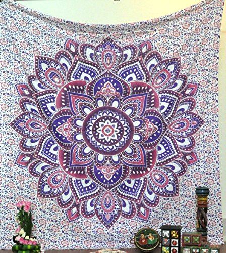 Handicrunch Ombre Mandala Tapestries Hippy Hippie Wall Hanging Wall Tapestries Indian Mandala Tapestries Bohemian Tapestry Sofa Cover Beach Blanket Dorm Decor Wall Art