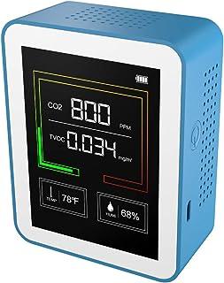 Sunbaca Detector portátil de CO2 Detector de qualidade do ar Detector inteligente de temperatura e umidade Medidor de qual...