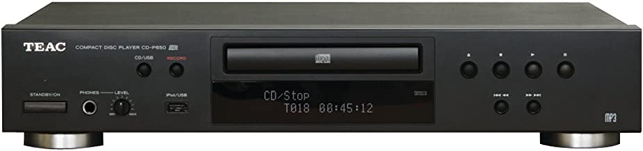 TEAC CD-P650-B Reproductor de discos compacto con USB e interfaz digital para iPod (negro)