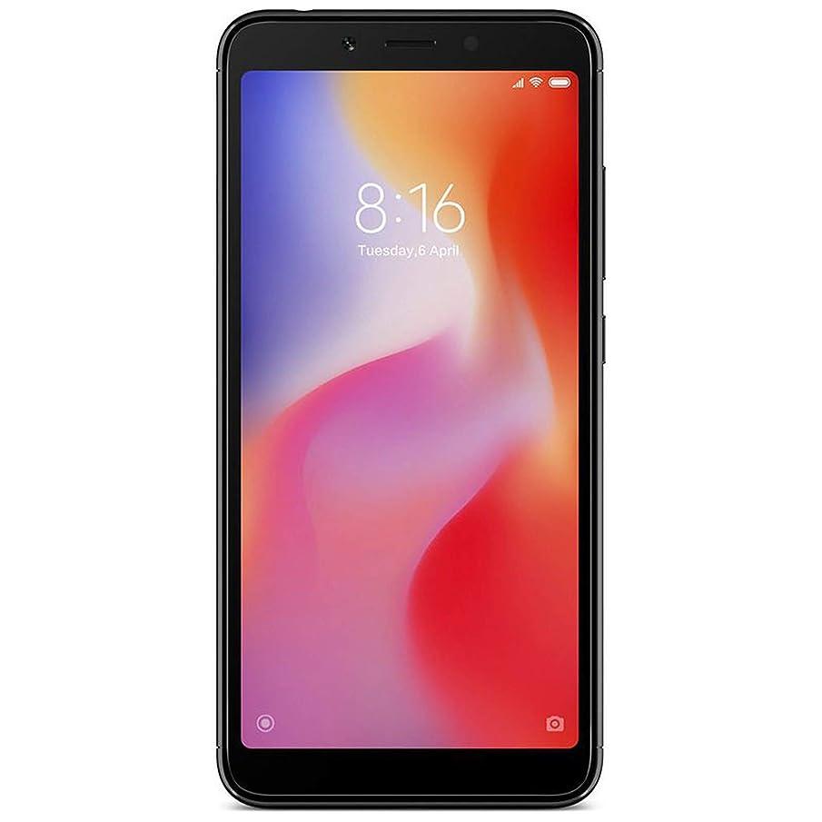 Xiaomi Redmi 6-64GB + 4GB RAM, Dual Camera, Dual SIM GSM Factory Unlocked Smartphone - International Global 4G LTE Version - No Warranty (Black)