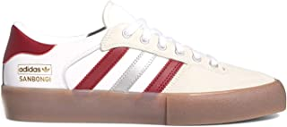 adidas Matchbreak Super x Shin (White/Collegiate Burgundy/Gum4) Men's Skate Shoes-8