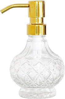 Soap Dispenser for Bathroom Light Luxury Soap Bottle Glass Stainless Steel Press Head Massage Hair Care Essential Oil Soap...