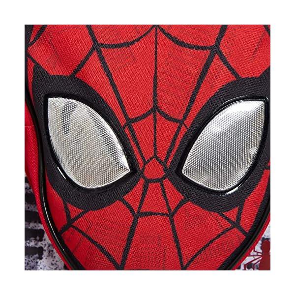 61eu+4cG+QL. SS600  - Marvel Spiderman - Mochila para niños con bolsillo, diseño de Los Vengadores, ojos reflectantes, color azul, Rojo (Rojo…