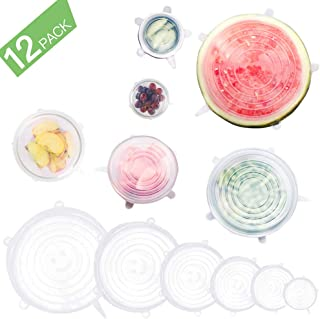 GARDWEN Silicone Stretch Lids Reusable, Kitchen Airtight Food Storage Covers, 6 Sizes Seal Bowl Stretchy Wrap Cover, Keep Food Fresh for Containers, Cups, Cans,Plates, Microwave, Dishwasher Safe