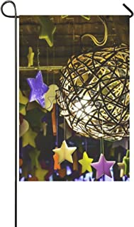 RYUIFI Home Decorative Outdoor Double Sided Lamp Thailand Bulbs Garden Flag,House Yard Flag,Garden Yard Decorations,Seasonal Welcome Outdoor Flag 12 X 18 Inch Spring Summer Gift