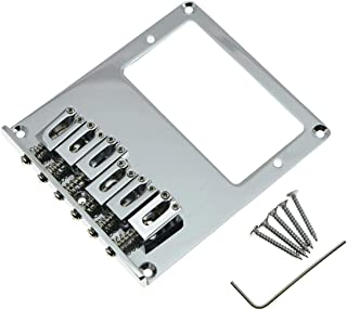 KAISH Chrome Tele Bridge Tele Humbucker Guitar Bridge for Telecaster Guitar