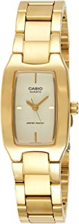 Casio Watch For Women Quartz, Analog Display and Stainless Steel Strap
