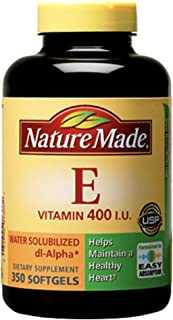 Nature Made Vitamin E 400 IU Water Soluble 350 Softgels