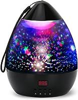Projektor Lampe LED Grandbeing Nachtlicht Kinder 360° Drehen 8 Beleuchtungsmodi und Automatisch Abschlaten Sternenhimmel...