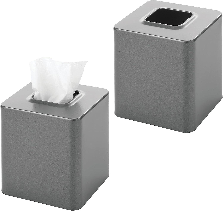 mDesign Square Bargain Paper Facial Tissue for Bathroom Holder Cover Box depot