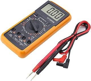 DT9205A Multímetro digital,Multímetro digital LCD NAROOTE Pantalla LCD Multametro digital port¢til Probador de capacitancia de resistencia CA/CC DT9205A