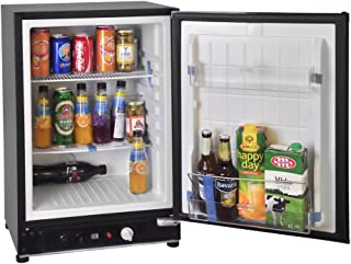 SMETA 3 Way Fridge Propane Refrigerator without Freezer Gas/12V/110V for RV Truck Camping Off Grid Fridge 2.1 cu ft, Black