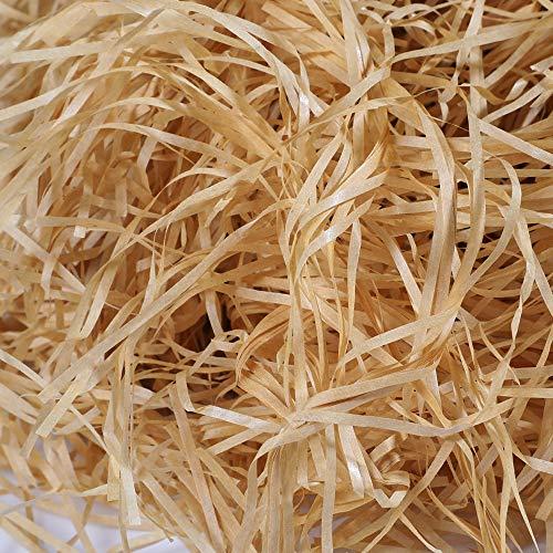 Hifot 100 gramos Artículos de fiesta de empaquetado de relleno de papel de Kraft de papel triturado - Caqui
