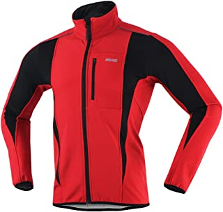 ARSUXEO Winter Warm UP Thermal Softshell Cycling Jacket Windproof Waterproof 15-k