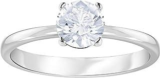 Swarovski Women's White Rhodium plated Attract Ring Size N 5368542