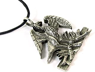 Phoenix Rising from the Ashes Talisman Amulet Pewter Pendant