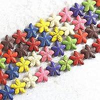 CHAOQIANG 虹色の石は、DIYファッションジュエリー作り20個の* 20ミリメートル新しい星形のビーズをトルコ石,高品質