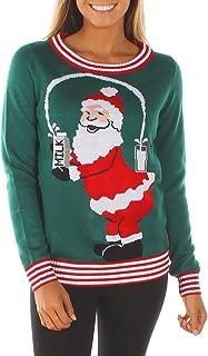 Women's Break The Internet Ugly Christmas Sweater - Funny Santa Sweater