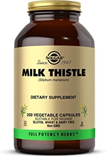 Solgar Milk Thistle, 250 Vegetable Capsules - Liver Support - Full Potency (FP) - Non-GMO, Vegan, Gluten Free, Dairy Free,...