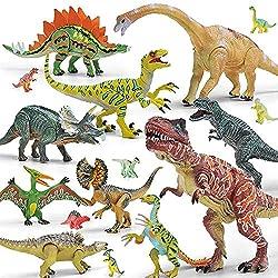 5. Gizmovine Realistic Movable Dinosaur Action Figures (20 pieces)