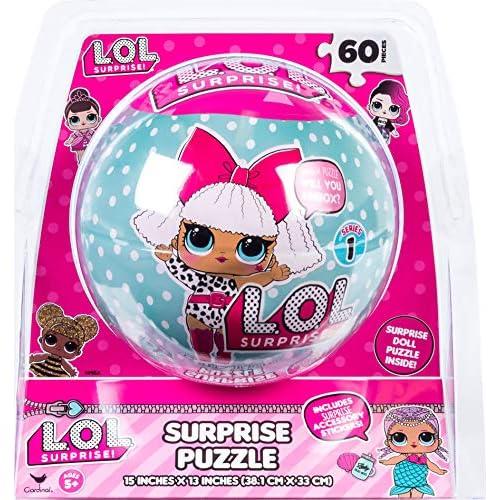 Spin Master Games LOL Surprise Puzzle, 60 Pezzi, GDT4470, Modelli/Colori Assortiti, 1 Pezzo