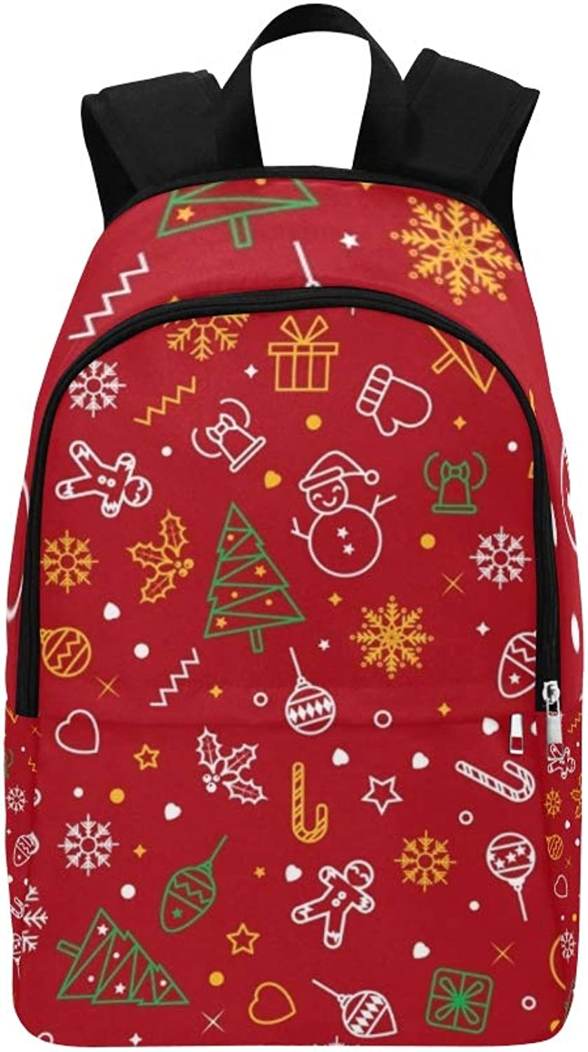 Christmas Elements Christmas Casual Daypack Travel Bag College School Backpack for Mens and Women