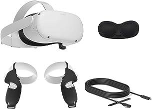 2020 Oculus Quest 2 All-in-One VR Headset, 256GB SSD, 1832x1920 até 90 Hz Taxa de Actualização LCD, óculos Compitble, Áudi...