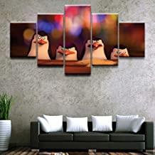 Sanzx 5 piezas Cartoon Movie Penguin Madagascar Poster Home Decor Wall Canvas Picture Art Hd Print Painting On Canvas Artwork 30 * 40 * 2 30 * 60 * 2 30 * 80Cm sin marco