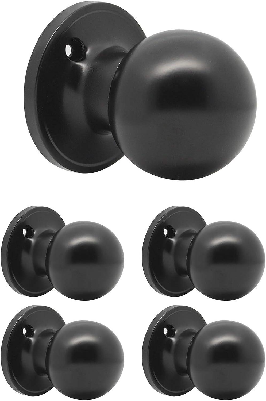 DL607BK Probrico Poign/ée serrure de porte en acier inoxydable noire ronde