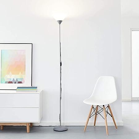 Projecteur plafonnier LED classique, 1x 10W E27 LED E27 incl, 810 lumens, 2700K blanc chaud, métal/plastique, argent/blanc