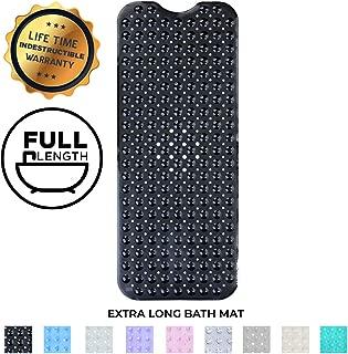 Enkosi Bath Mat - Large Non Slip Bathtub & Shower Mat - Extra Long 40 x 16 Inch Bathroom Mats for Tub - Machine Washable & Mildew Resistant Nonslip Bathmats - Anti Slip