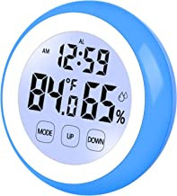 PINGHE Despertador Digital, Reloj de Viaje con Temperatura, Pantalla LED de Humedad, Pantalla táctil, Luz de Fondo, Imanes