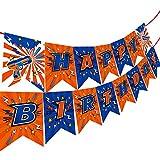 Little Valentine Blaster Battle Dart War Happy Birthday Banner Pennant for Nerf Birthday Party Supplies and Decorations