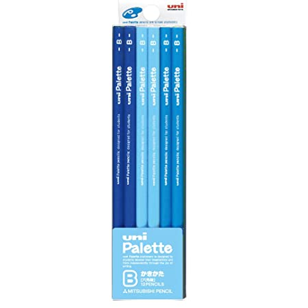 三菱鉛筆 かきかた鉛筆 ユニパレット B パステルブルー 1ダース K5560B
