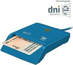 Woxter Lector DNI Electrónico Azul - Lector de DNI Electrónico Inteligente, DNI 3.0, Plug & Play, Compatible con PC y Mac
