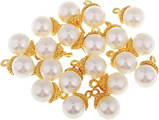 IPOTCH 20Piece Charms DIY Jewelry Making Accessory Pearl Pendents For Necklace Gift