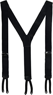 CrookhornDavis Men's Formal Silk 38mm Solid Braces (Suspenders)